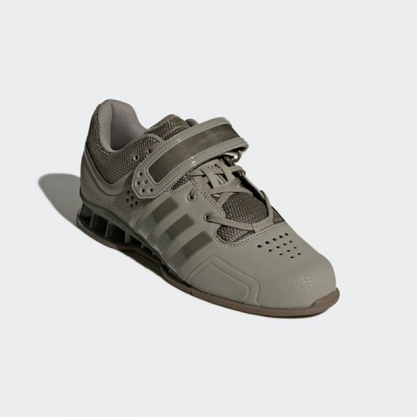 Gewichtheberschuh Adidas Adipower 2018 tracar - grau - oliv