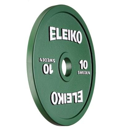 Eleiko - Powerlifting - Hantelscheibe - 10,0 kg - grün