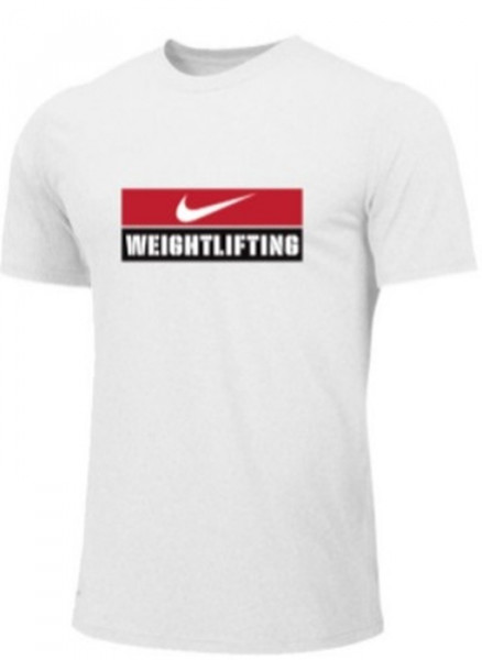 Nike Weightlifting Logo Shirt white