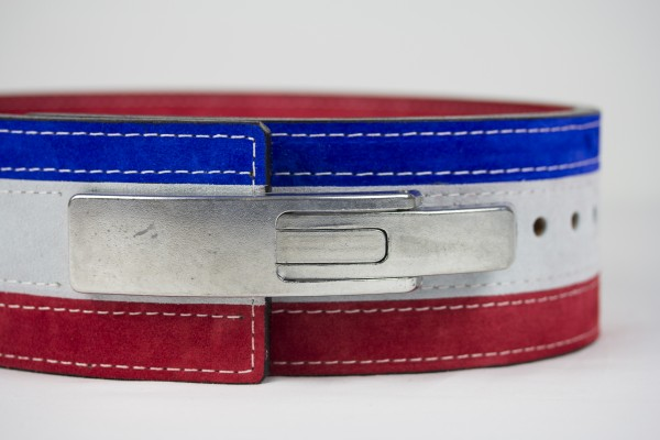 Inzer - Lever Belt - red/white/blue - 10 mm