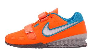 Gewichtheberschuh Nike Romaleos 2 - Total orange/blau
