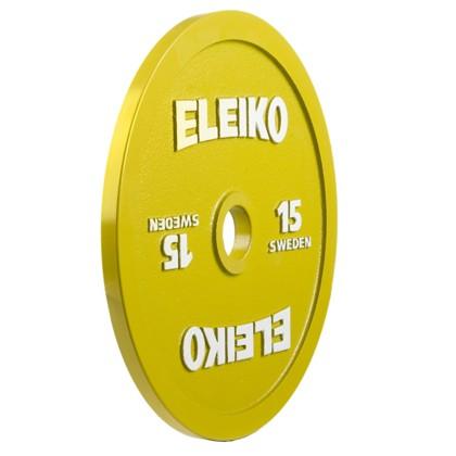 Eleiko - Powerlifting - Hantelscheibe - 15,0 kg - gelb