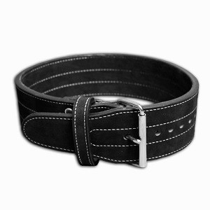 Inzer - Buckle Belt - Single Prong - schwarz/black/noir - 10 cm