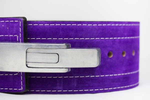 Inzer - Lever Belt - lila/purple/pourpre - 10 mm