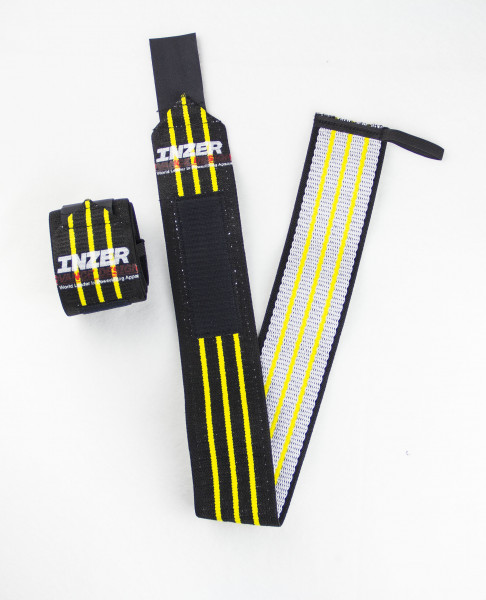 Inzer - Atomic Wrist Wraps - yellow / gelb
