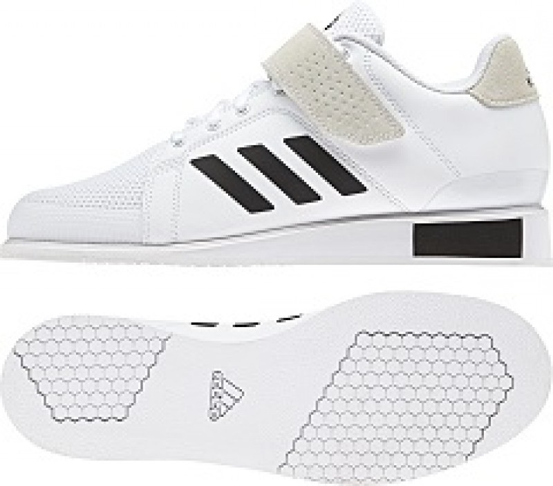 white adidas weightlifting shoes